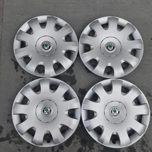 Колпаки колесные (комплект) Skoda Octavia A5, 1Z0601147A