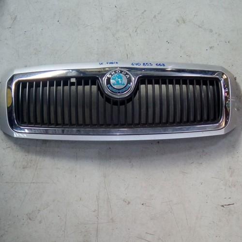 Решетка радиатора Skoda Fabia, (2007), 6Y0853668