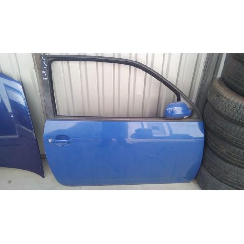 Дверь передняя правая VW Lupo, синяя