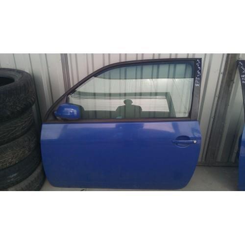 Дверь передняя левая VW Lupo, синяя